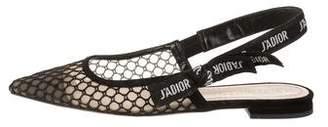 Christian Dior J'Adior Resille Slingback Flats