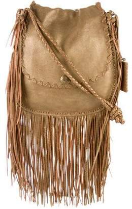 Ralph Lauren Metallic Fringe-Trimmed Bag
