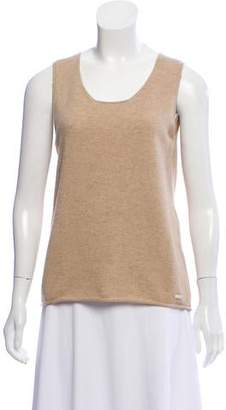 Chanel Lightweight Sleeveless Cashmere Top