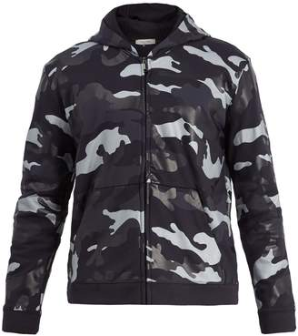 Valentino Camouflage-print cotton-blend hooded sweatshirt
