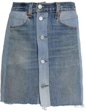 Levi's Re/Done By Two-Tone Denim Mini Skirt