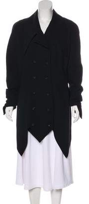 Karl Lagerfeld Wool Double-Breasted Coat