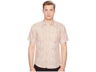 Billy Reid Short Sleeve Martin Shirt Men's Clothing