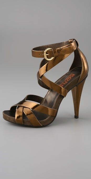 Kors Michael Kors Wink Double X Band High Heel Sandal