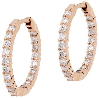 Affinity Diamond Jewelry Diamond Inside Out Hoop Earrings, 14K, 1.0cttwby Affinity