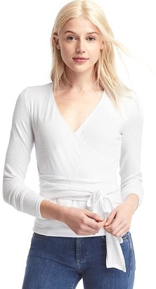 Softspun knit tie-wrap top $44.95 thestylecure.com
