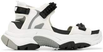 Ash platform sandals