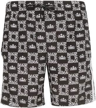 b60a61cf20 Dolce & Gabbana Logo Print Swim Shorts