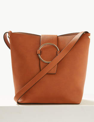 M&S CollectionMarks and Spencer Faux Leather Ring Detail Bucket Bag