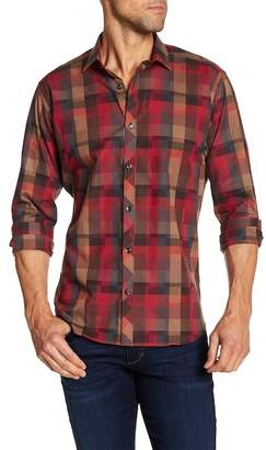 Jared Lang Geo Check Long Sleeve Shirt