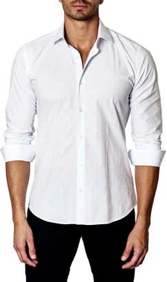 Unsimply Stitched Tonal-Jacquard Sport Shirt