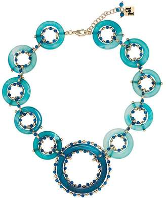 Rosantica blue ruote stone bead necklace