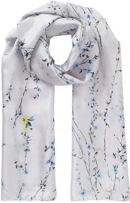Jigsaw Floral Strands Silk Scarf
