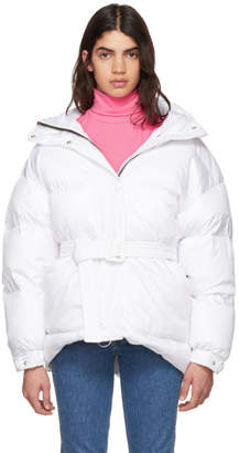 Ienki Ienki White Michlin Belted Down Puffer Jacket