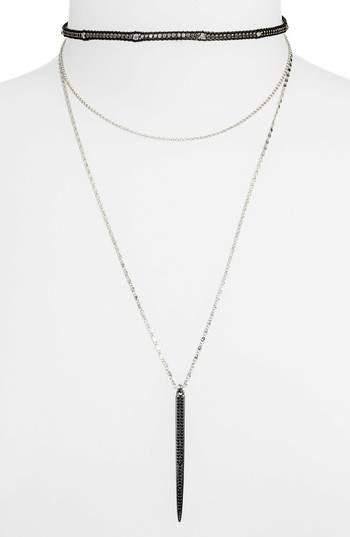 Nakamol Design Layered Choker Necklace