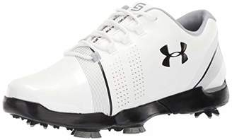 Under Armour Boys' Spieth 3 Jr. Golf Shoes, White/Overcast Gray/Black 100, 5 (38 EU)