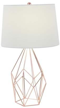 UMA Copper\u002FWhite Geometric Wire Table Lamp