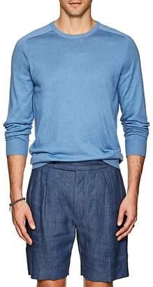 P. Johnson Men's Knit Silk-Cotton Crewneck Sweater
