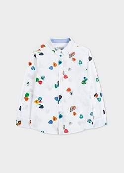 Paul Smith Boys' 8+ Years White 'Plectrum' Print Shirt