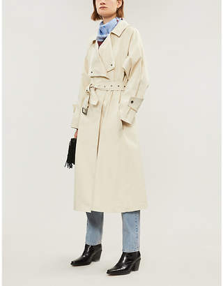 Isabel Marant Longline stretch-cotton trench coat