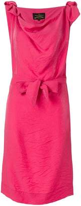 Vivienne Westwood cowl neck bow dress