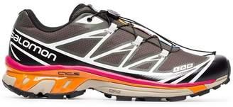 ADV Salomon S/Lab grey, pink and orange XT-6 sneakers