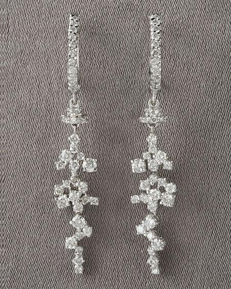 KC Designs Cluster Drop Earrings