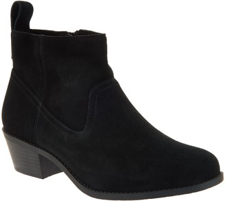Vionic Water-Resistant Suede Ankle Boots - Vera