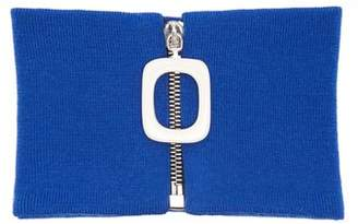 J.W.Anderson Zip Through Wool Neck Band - Womens - Blue