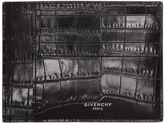 Givenchy Black Croc Card Holder