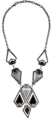 Alexis Bittar Lucite & Crystal Santa Fe Deco Necklace