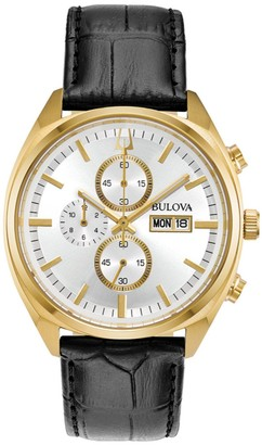 Bulova Men's Chronograph Leather Band Watch