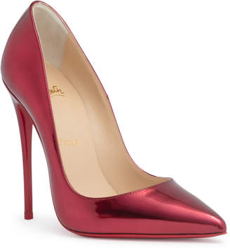 Christian Louboutin So Kate 120 metallic red patent leather pumps