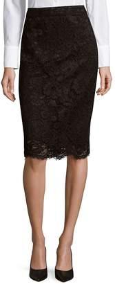 NANETTE nanette lepore Women's Floral Lace Zip-Back Pencil Skirt