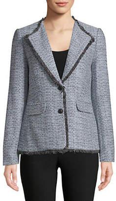 Karl Lagerfeld PARIS Textured Notch Jacket