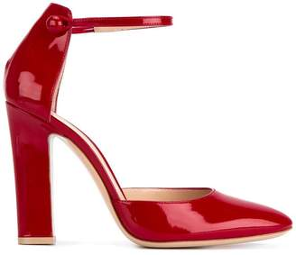 Gianvito Rossi Red Patent Ankle Strap Heels