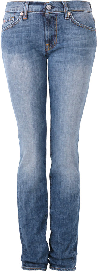 7 For All Mankind Blue Roxanne Mne Skinny Jean