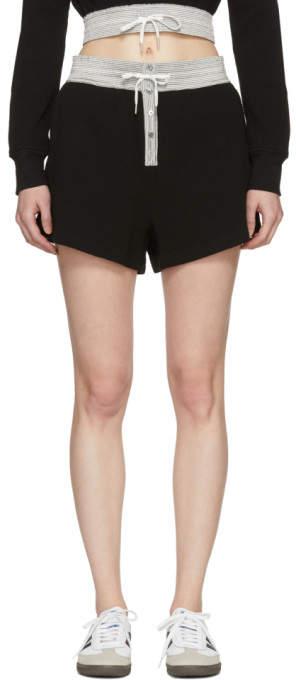 Black Heavy Waffle Gym Shorts