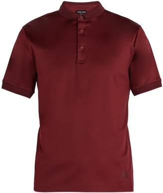 Giorgio Armani Piqué-collar cotton-jersey polo shirt