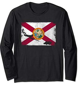 Florida Flag Spearfishing Long Sleeve - Freedive T Shirt