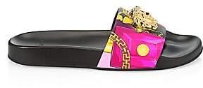 Versace Women's Medusa Leather Slides Sandals