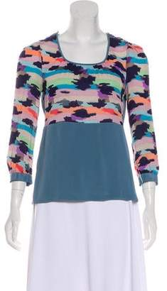 Marc by Marc Jacobs Long Sleeve Silk Blouse