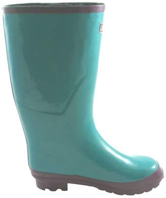 Jileon Wide Calf All Weather Durable Rubber Rain Boots For Women with Soft and Fluffy Lining on the Inside – Fits Perfectly For Calf Sizes Up To 18 Inches-Glossy Blue 10 Wide