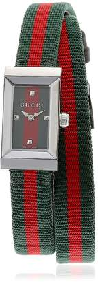 Gucci G-Frame Web Double Wrap Around Watch