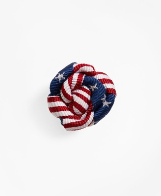 Brooks Brothers Stars and Stripes Lapel Pin