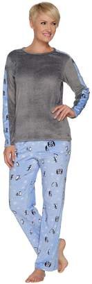 Cuddl Duds Ultra Plush Velvet Fleece Novelty Print Pajama Set