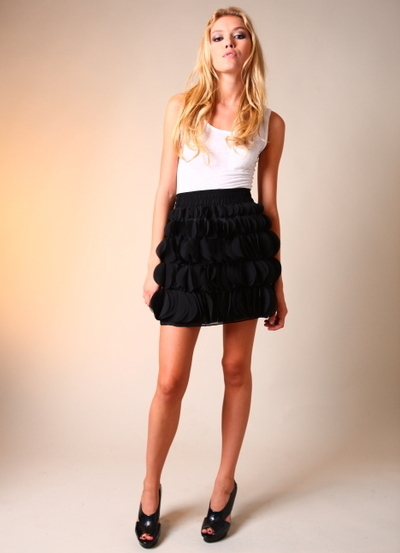 Karen Zambos Black Swift Skirt