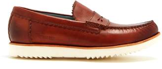 Grenson Ashley raised-sole leather penny loafers