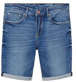 Mango Man MANGO MAN Faded dark wash denim bermuda shorts