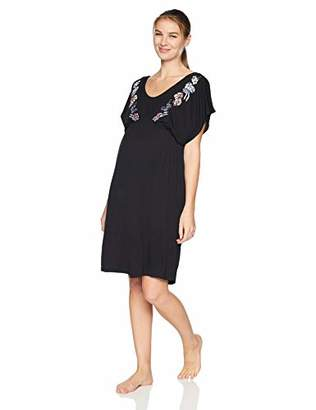 Motherhood Maternity Women's Maternity Placed Screen Print Nursing Chemise Gown